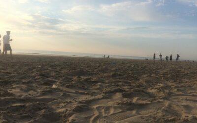 Eerste MUG frisbee strandtraining 2018